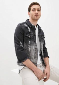 Куртка джинсовая, Aarhon, цвет: черный. Артикул: AA002EMJGLG0. Одежда / Верхняя одежда / Джинсовые куртки