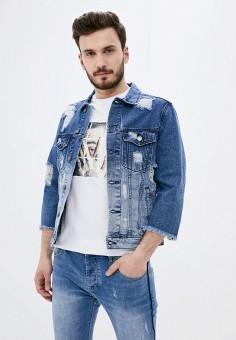 Куртка джинсовая, Aarhon, цвет: синий. Артикул: AA002EMJGLG1. Одежда / Верхняя одежда / Джинсовые куртки
