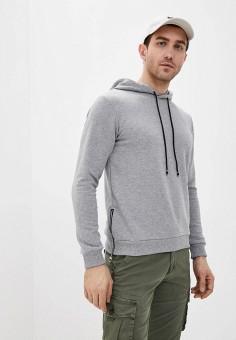 Худи, Aarhon, цвет: серый. Артикул: AA002EMJGLL6. Одежда / Толстовки и олимпийки / Худи