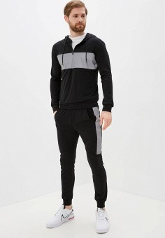 Костюм спортивный, Aarhon, цвет: черный. Артикул: AA002EMJIDA3. Одежда / Спортивные костюмы