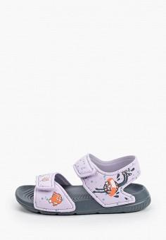 Сандалии, adidas, цвет: фиолетовый. Артикул: AD002AGHZWH5. Девочкам / Спорт