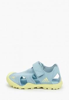 Сандалии, adidas, цвет: голубой. Артикул: AD002AGHZWP8. Девочкам / Спорт