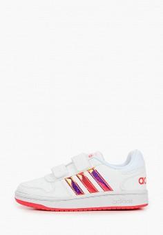 Кеды, adidas, цвет: белый. Артикул: AD002AGJMGN1. Девочкам / Спорт