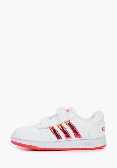 Кеды, adidas, цвет: белый. Артикул: AD002AGJMGO4. Девочкам / Спорт