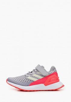 Кроссовки, adidas, цвет: серый. Артикул: AD002AKJMGD9. Девочкам / Спорт