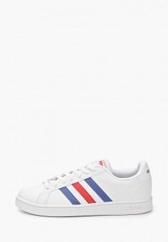 Кеды, adidas, цвет: белый. Артикул: AD002AMIYPA0. Обувь / Кроссовки и кеды