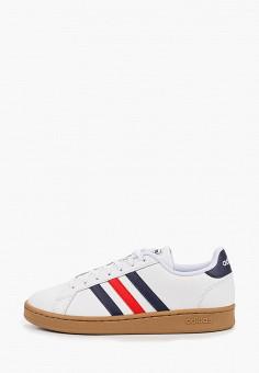 Кеды, adidas, цвет: белый. Артикул: AD002AMJMHV0. Обувь / Кроссовки и кеды / Кеды