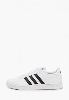 Кеды, adidas, цвет: белый. Артикул: AD002AMJMHV1. Обувь / Кроссовки и кеды / Кеды