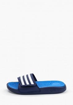Сланцы, adidas, цвет: синий. Артикул: AD002AUHLNS0. Обувь / Резиновая обувь