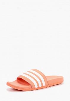 Сланцы, adidas, цвет: коралловый. Артикул: AD002AWCDKI3. Обувь / Резиновая обувь