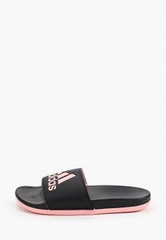 Сланцы, adidas, цвет: черный. Артикул: AD002AWHLNW3. Обувь / Резиновая обувь