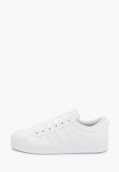 Кеды, adidas, цвет: белый. Артикул: AD002AWJMKK9. Обувь / Кроссовки и кеды