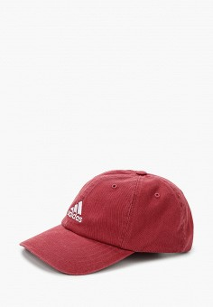 Бейсболка, adidas, цвет: бордовый. Артикул: AD002CUJMZM7. Аксессуары / Головные уборы