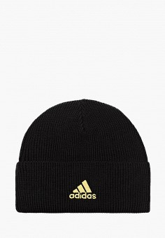 Шапка, adidas, цвет: черный. Артикул: AD002CUJNAI9. Аксессуары / Головные уборы