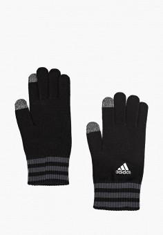Перчатки, adidas, цвет: черный. Артикул: AD002DUCDDM7. Аксессуары / Перчатки и варежки