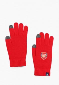 Перчатки, adidas, цвет: красный. Артикул: AD002DUFKNG0. Аксессуары / Перчатки и варежки