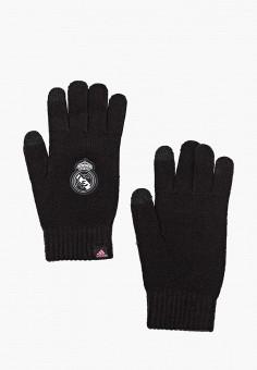 Перчатки, adidas, цвет: черный. Артикул: AD002DUJMZJ9. Аксессуары / Перчатки и варежки