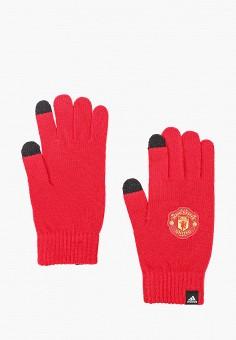 Перчатки, adidas, цвет: красный. Артикул: AD002DUJMZK0. Аксессуары / Перчатки и варежки