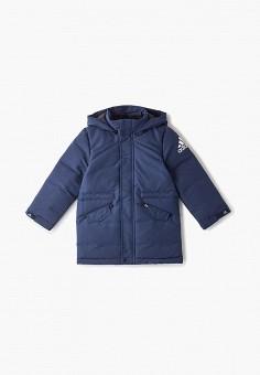Пуховик, adidas, цвет: синий. Артикул: AD002EBFKOR0. Мальчикам / Одежда / Верхняя одежда / Куртки и пуховики