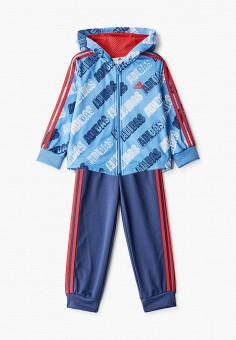 Костюм спортивный, adidas, цвет: голубой, синий. Артикул: AD002EBHZUX5. Новорожденным