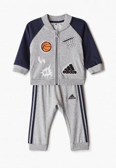 Костюм спортивный, adidas, цвет: серый. Артикул: AD002EBJMAP5. Новорожденным / Одежда