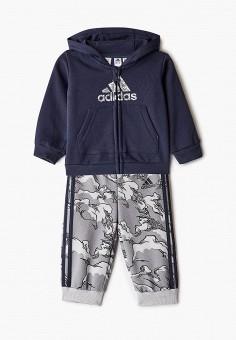 Костюм спортивный, adidas, цвет: синий. Артикул: AD002EBJMAT9. Мальчикам / Одежда