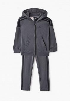 Костюм спортивный, adidas, цвет: серый. Артикул: AD002EBJMBC0. Мальчикам / Одежда