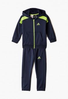 Костюм спортивный, adidas, цвет: синий. Артикул: AD002EBJMBC2. Мальчикам / Одежда