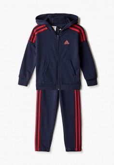 Костюм спортивный, adidas, цвет: синий. Артикул: AD002EBJMBC4. Мальчикам / Одежда