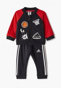 Костюм спортивный, adidas, цвет: черный. Артикул: AD002EBJMBE9. Новорожденным / Одежда