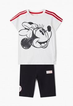 Костюм спортивный, adidas, цвет: белый, черный. Артикул: AD002EBJMBG7. Новорожденным / Одежда