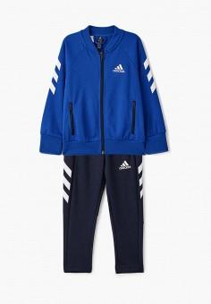 Костюм спортивный, adidas, цвет: синий. Артикул: AD002EBJMBJ5. Мальчикам / Одежда