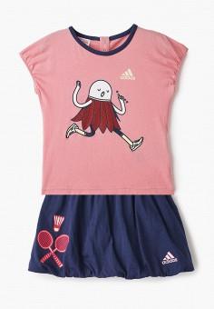 Костюм спортивный, adidas, цвет: розовый, синий. Артикул: AD002EGHZUY2. Новорожденным / Одежда