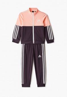 Костюм спортивный, adidas, цвет: синий, мультиколор. Артикул: AD002EGJMBH5. Девочкам / Одежда