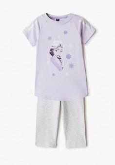 Костюм спортивный, adidas, цвет: серый, фиолетовый. Артикул: AD002EGJMBM1. Девочкам / Одежда