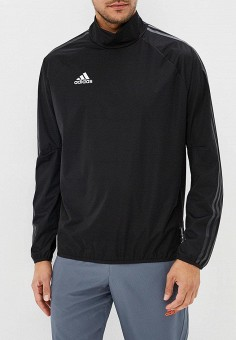 Ветровка, adidas, цвет: черный. Артикул: AD002EMCDFU9. Одежда / Верхняя одежда / Легкие куртки и ветровки