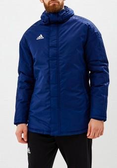 Куртка утепленная, adidas, цвет: синий. Артикул: AD002EMCDGD8. Одежда / Верхняя одежда / Пуховики и зимние куртки / Зимние куртки