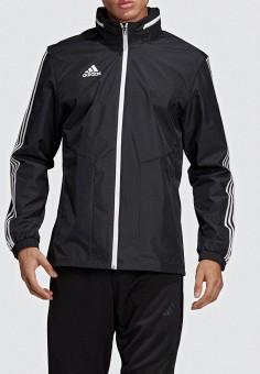 Ветровка, adidas, цвет: черный. Артикул: AD002EMEEHQ0. Одежда / Верхняя одежда / Легкие куртки и ветровки