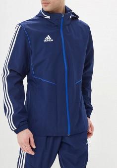 Ветровка, adidas, цвет: синий. Артикул: AD002EMEEHQ1. Одежда / Верхняя одежда / Легкие куртки и ветровки