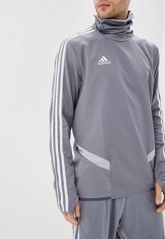 Худи, adidas, цвет: серый. Артикул: AD002EMEEIF1. Одежда / Толстовки и олимпийки / Худи