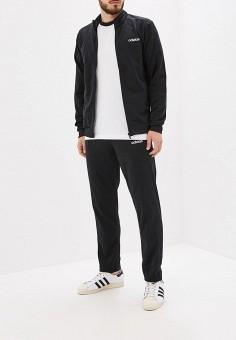 Костюм спортивный, adidas, цвет: черный. Артикул: AD002EMFJYK2. Одежда / Спортивные костюмы