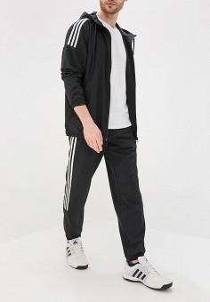 Костюм спортивный, adidas, цвет: черный. Артикул: AD002EMFJYK9. Одежда / Спортивные костюмы