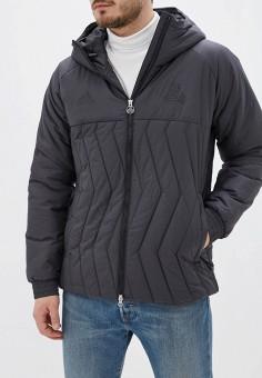 Куртка утепленная, adidas, цвет: черный. Артикул: AD002EMFJYX4. Одежда / Верхняя одежда / Пуховики и зимние куртки