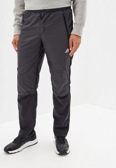 Брюки утепленные, adidas, цвет: серый. Артикул: AD002EMFKRQ9. Одежда / Брюки