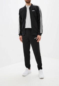 Костюм спортивный, adidas, цвет: черный. Артикул: AD002EMFWTR7. Одежда / Спортивные костюмы