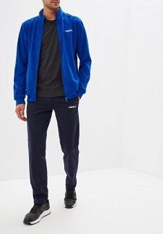 Костюм спортивный, adidas, цвет: синий, черный. Артикул: AD002EMFWTR8. Одежда / Спортивные костюмы