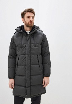 Пуховик, adidas, цвет: хаки. Артикул: AD002EMGBIA7. Одежда / Верхняя одежда / Пуховики и зимние куртки