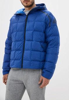 Куртка утепленная, adidas, цвет: синий. Артикул: AD002EMGHRA6. Одежда / Верхняя одежда / Пуховики и зимние куртки / Зимние куртки