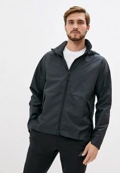 Ветровка, adidas, цвет: черный. Артикул: AD002EMHLLN8. Одежда / Верхняя одежда / Легкие куртки и ветровки