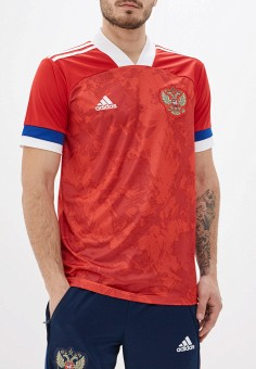 Футболка спортивная, adidas, цвет: красный. Артикул: AD002EMHLOY7. Одежда / Футболки и поло